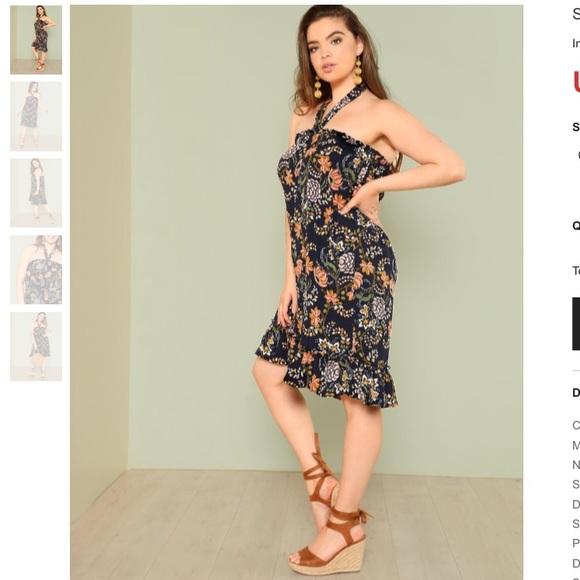 5b9a7f26afef Ruffle Floral Halter Dress